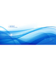 abstract blue wavy background graphic vector image vector image