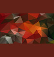abstract irregular polygonal background red green vector image vector image