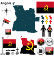 Angola map vector image