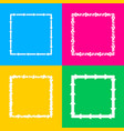 arrow on a square shape four styles of icon on vector image