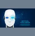artificial intelligence concept banner vector image