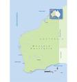Australia Western Australia vector image vector image