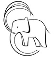 Black and white elephant vector image vector image