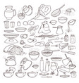 black and white sketch collection set of vector image vector image