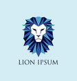 blue lion logo sign symbol icon vector image