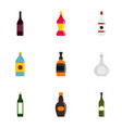 bottles icon set flat style vector image vector image