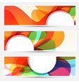 Bright liquid flow colorful banners set vector image vector image