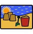 Bucket spade vector image vector image