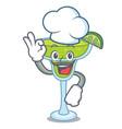 chef margarita character cartoon style vector image vector image