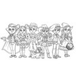 children in carnival costumes vampire artist vector image vector image
