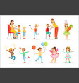 children in costume party set of vector image vector image