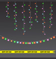 christmas and new year light garland vector image vector image
