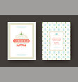 christmas greeting card vintage typographic design vector image vector image