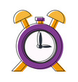 clock alarm hour school design icon vector image vector image