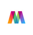 color letter m logo icon design vector image