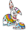colorful easter bunny cartoon vector image vector image