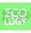 Concept of ecology vector image