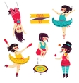 Cute circus set vector image