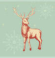 deer sketch for christmas theme vector image vector image