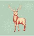 deer sketch for christmas theme vector image