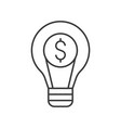 dollar sign and light bulb idea and investment of vector image vector image