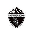 extreme emblem with snowboarder design element vector image vector image