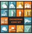 Flat Engineering Icons Set vector image vector image