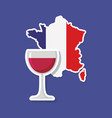 france culture card with flag and map vector image vector image