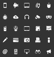 Gadget icons on gray background vector image vector image