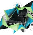geometric triangle 3d design abstract background
