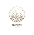logo abstract forest vector image