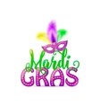 Mardi Gras text sign with vector image vector image