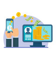 mobile payment computer vector image vector image