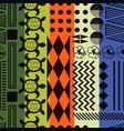 multicolored striped aloha ornament seamless vector image vector image