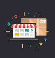 online shop delivery service vector image