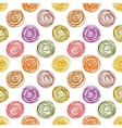 Pastel colored doodle circles simple geometric vector image