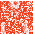 pattern on red background with chinese flowers vector image vector image
