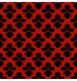 Pattern with damask motifs in rich red vector image vector image