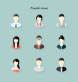 People icons in flat modern style vector image vector image