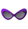 pin-up style sunglasses - retro eyeglasses vector image