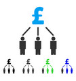 pound crowdfunding flat icon vector image vector image