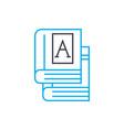 school books linear icon concept school books vector image vector image