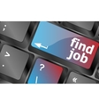 Searching for job on the internet Jobs button on vector image