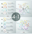 Set of 4 infographic design templates