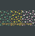 set of floral composition vector image vector image