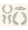 Set of hand drawn decorative elements for design vector image vector image