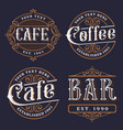 set of vintage emblems for the catering vector image vector image