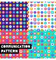 set pattern social media vector image vector image