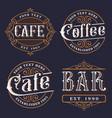 set vintage emblems for catering vector image vector image