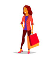 shopping woman purchasing concept vector image